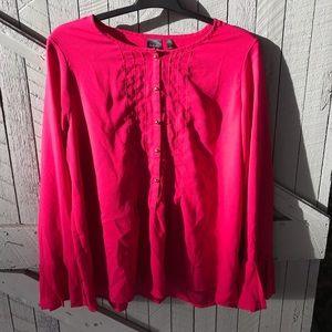 Rafaella Pink Button Down Top